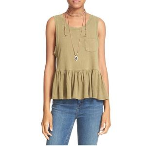 Free People Peplum Tank